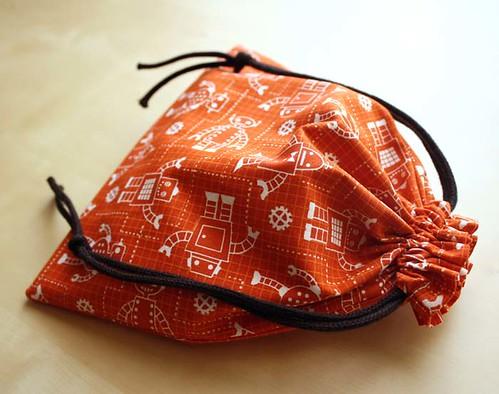 Robot Drawstring Bag