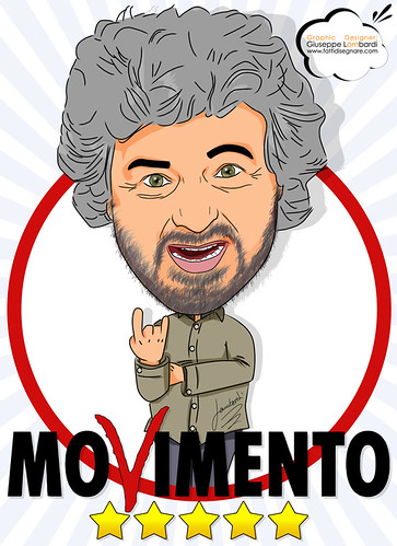 Beppe Grillo by Giuseppe Lombardi
