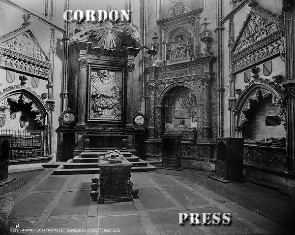 Capilla de San Ildefonso en la Catedral de Toledo hacia 1875-80. © Léon et Lévy / Cordon Press - Roger-Viollet