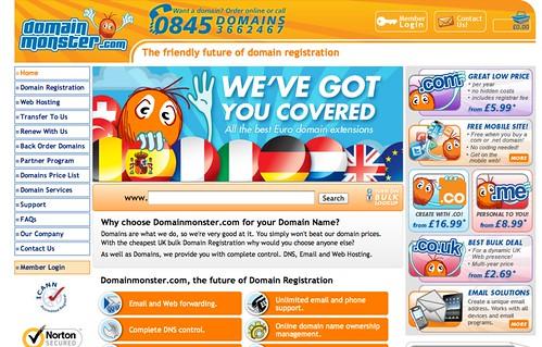 Domain Monster orange furball