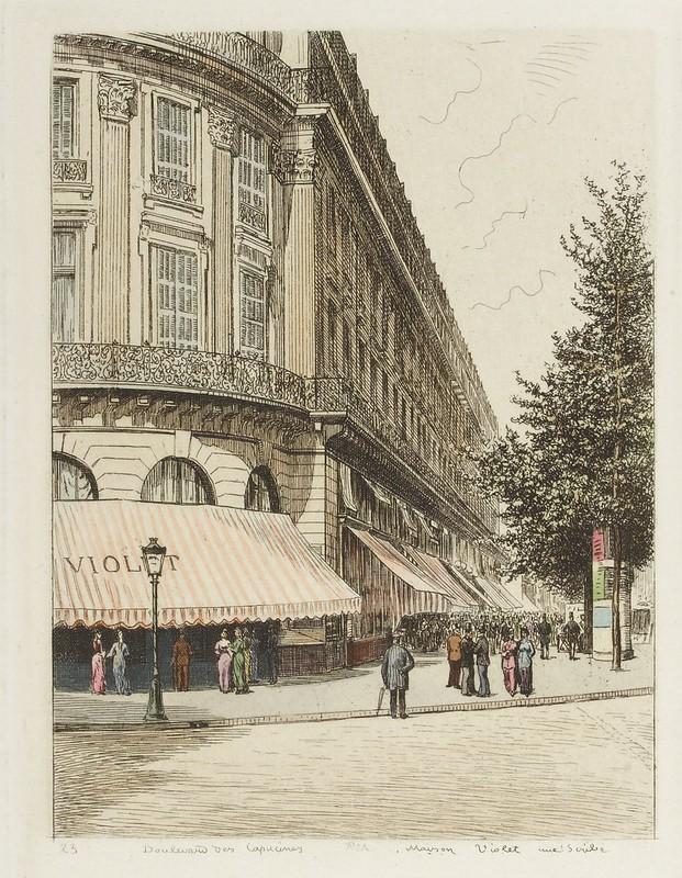 Boulevard des Capucines - Maison Violet rue Scribe 1877
