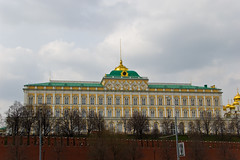 Le Grand Palais du Kremlin vu depuis la Moskova River