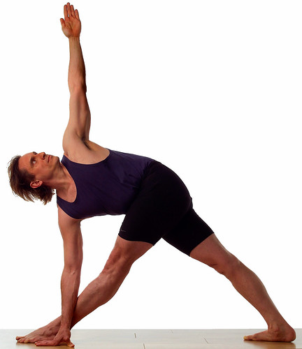 Twisted triangle pose