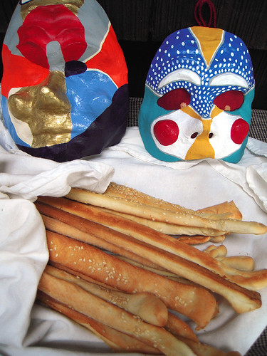 Masks and Breadsticks