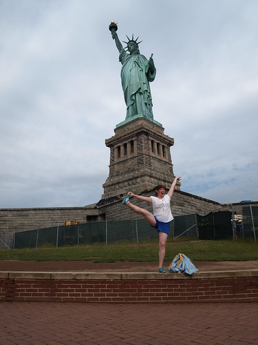 Statue of Liberty and yoga