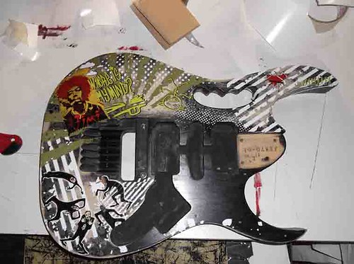 Step By Step Guitar Body - Ibanez Jem dbk by Giuseppe Lombardi