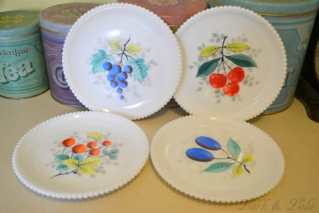 Westmoreland Beaded Edge Fruit Plates