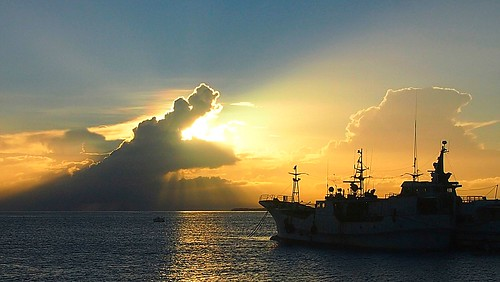 cloud sunrise southpacific solomons solomonislands