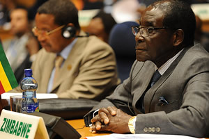 Republic of Zimbabwe President Robert Mugabe at the African Union Summit in Addis Ababa, Ethiopia on July 16, 2012. Mugabe said the sovereignty of Africa should be respected. by Pan-African News Wire File Photos