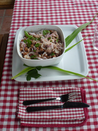 Borlotti bean salad with tuna and onion - Insalata di fagiolo, tonno e cipolla