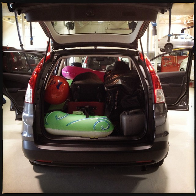Loaded up & heading to Whistler with @gwenfloyd #GoHondaCRV
