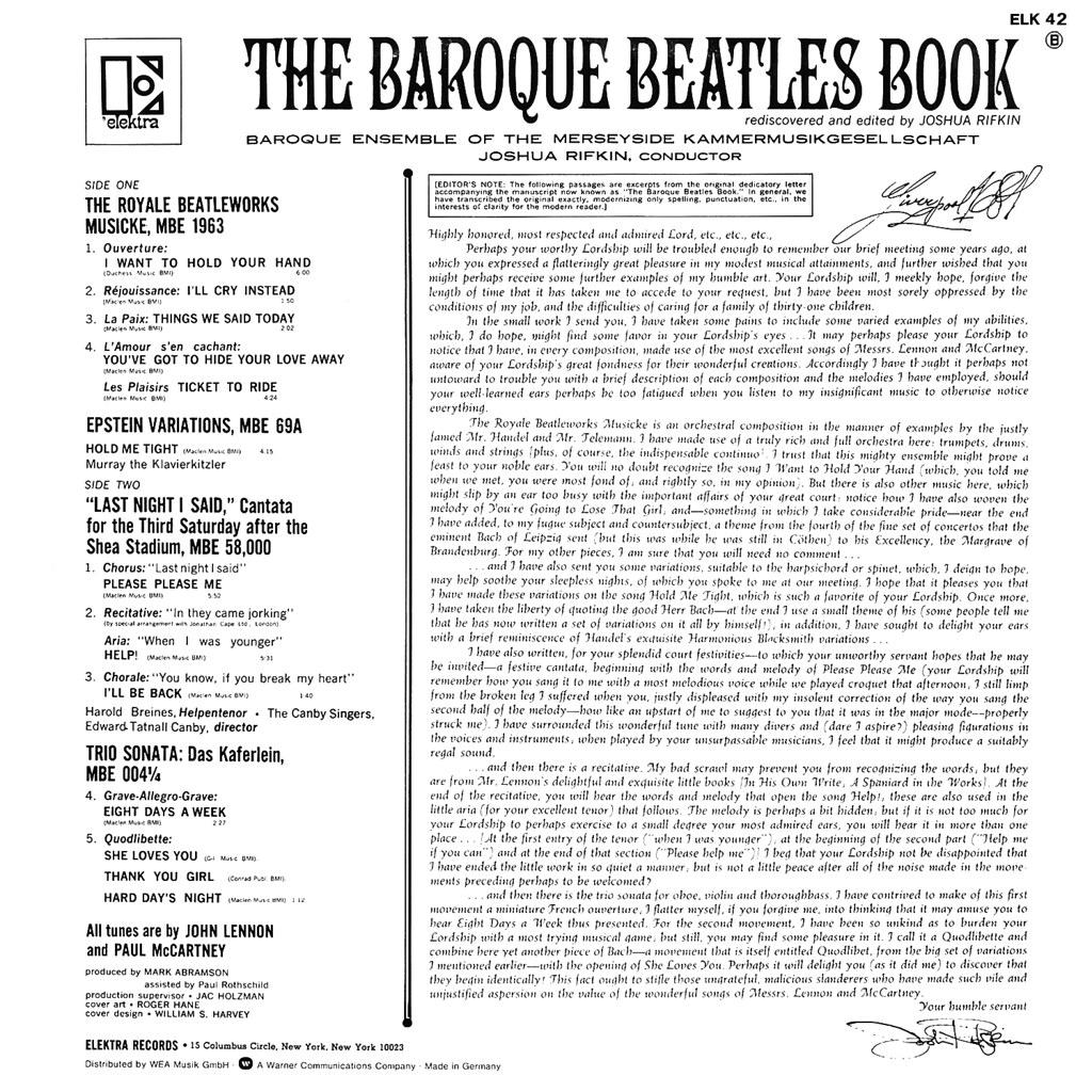 The Baroque Beatles