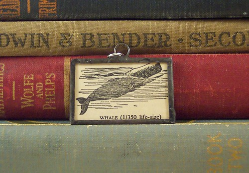 Whale Dictionary Illustration Pendant