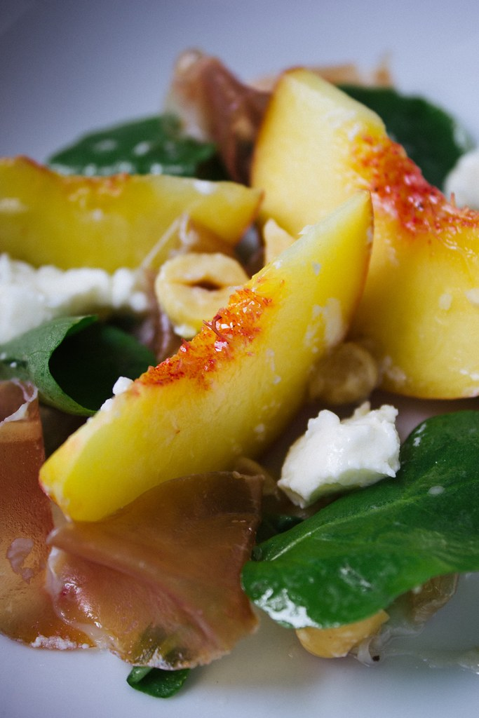 Peach Hazelnut and Feta Salad