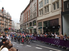 Olympic women's road race, outbound