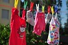 Daugther's cloths drying
