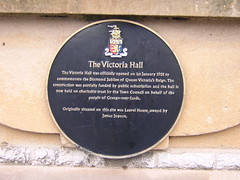 Photo of The Victoria Hall and James Jopson black plaque