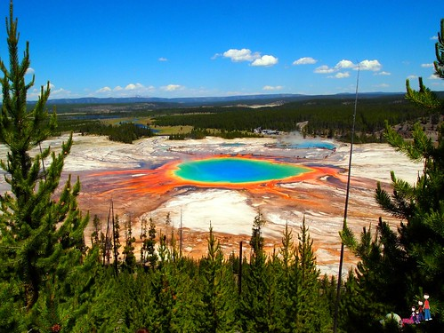 The Grand Prismatic in Yellowstone National Park