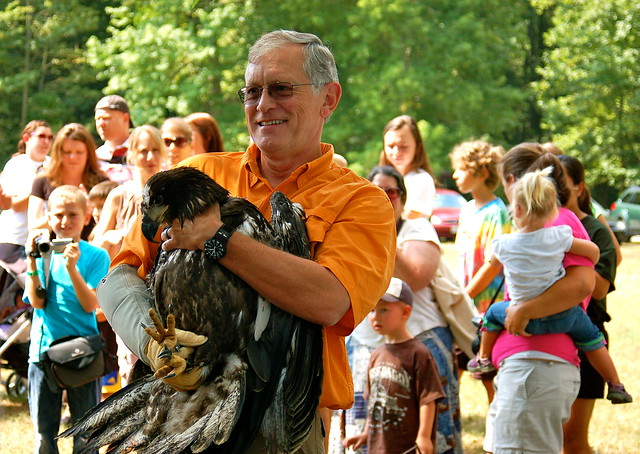 Ed Clarke eagle release at Mason Neck State Park