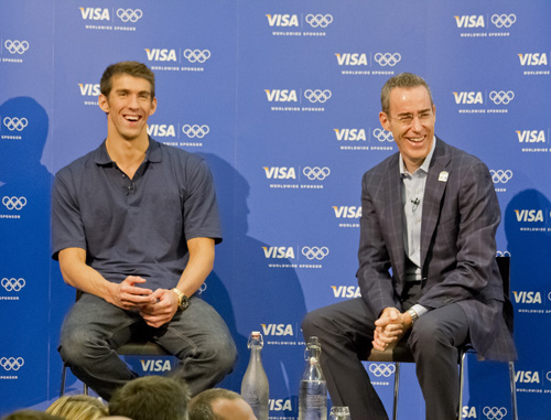 Michael Phelps and Visa's Kevin Burke