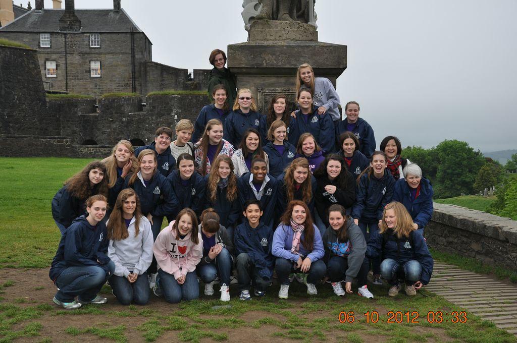 Outside Stirling Castle