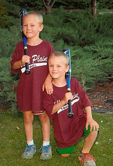 Zach and Alex at T-ball