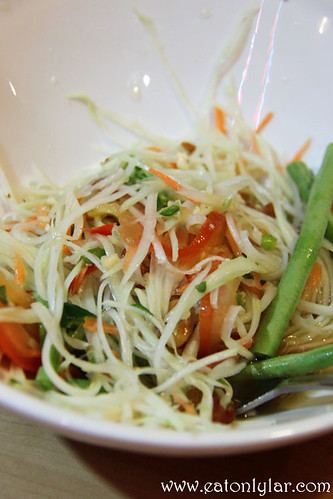Green Papaya Salad with Dry Shrimp, Basil Thai Nudle Bar