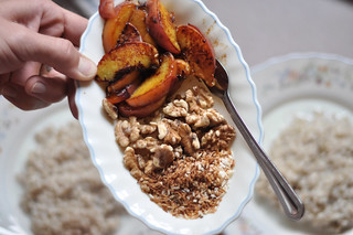 peaches walnuts and coconut