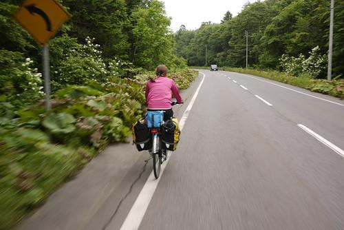 A pass between Lake Kusharo and Koshimizu on Route 587 (Hokkaido, Japan)