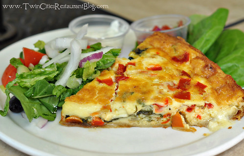 Veggie Quiche at Finnish Bistro ~ St Paul, MN