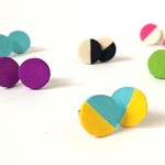 DIY Color Block Earrings