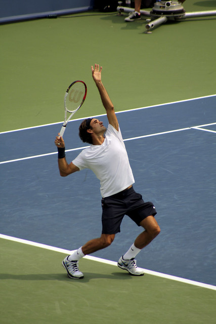 Roger Federer Serve   Flickr - Photo Sharing!