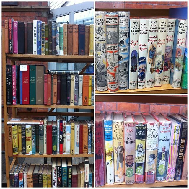 vintage books Tynemouth market