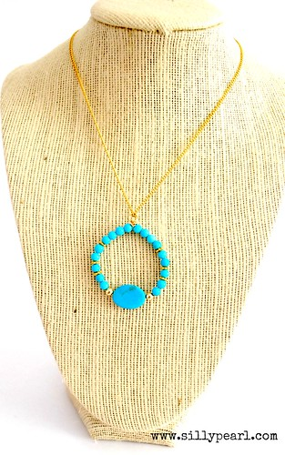 Beaded Hoop Necklace