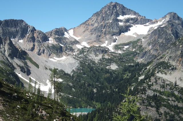 Lewis Lake, from Heather Pass