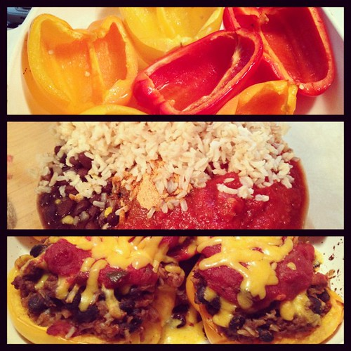 #PicFrame Southwest stuffed peppers.