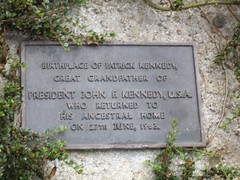 Photo of Patrick Kennedy and John Fitzgerald Kennedy bronze plaque