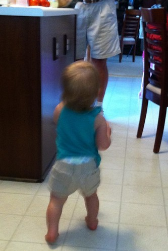 Anytime she sees her Pop-Pop, she takes off running to him.