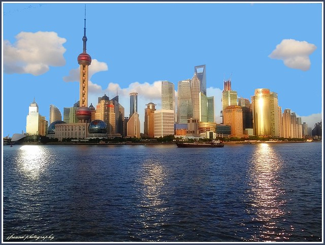 Pudong skyline during the day-Shanghai (5 pictures) - 1st series. On Explore #287 dated 27/08/2012