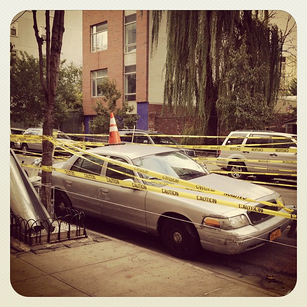 Let's hope this isn't your car! #sandy #alphabetcity #nyc