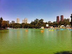 One of the lakes in Bosque de Chapultepec