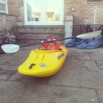 George trying my boat out for size :-)