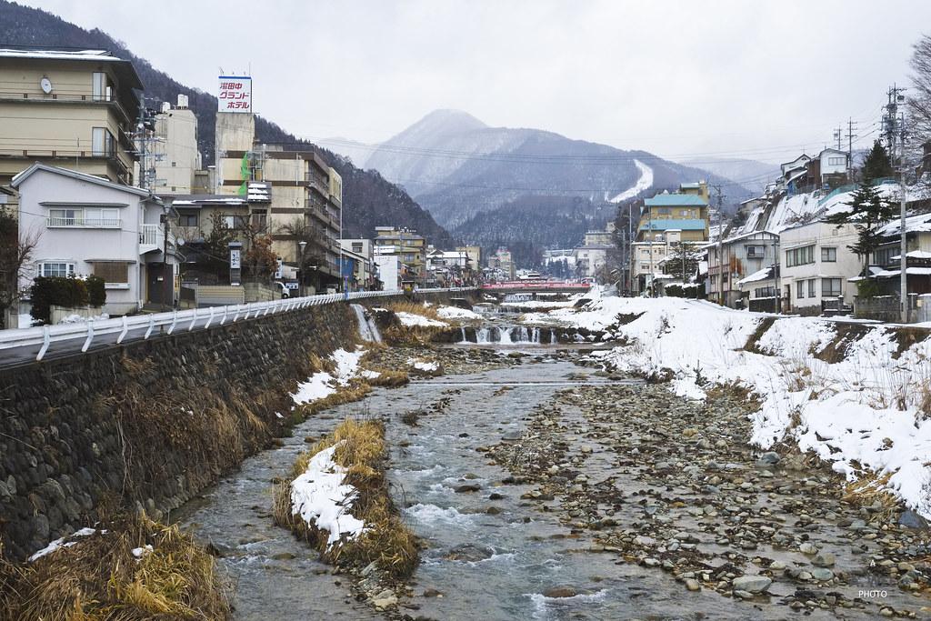 River in Yudanaka Onsen Town