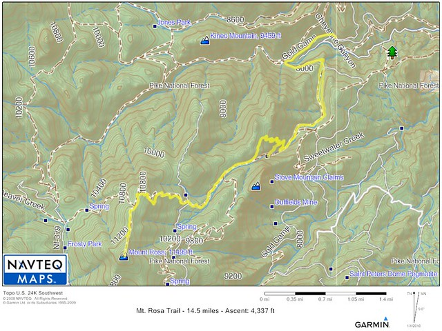 Mt. Rosa Trail Map