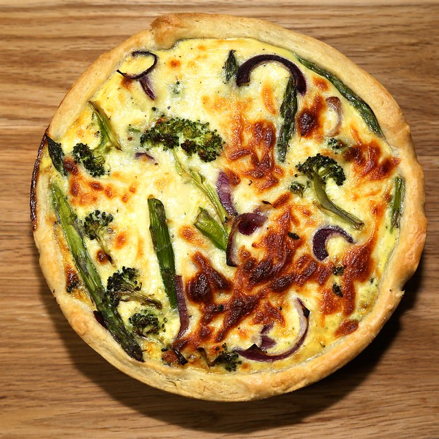 Asparagus & broccoli quiche