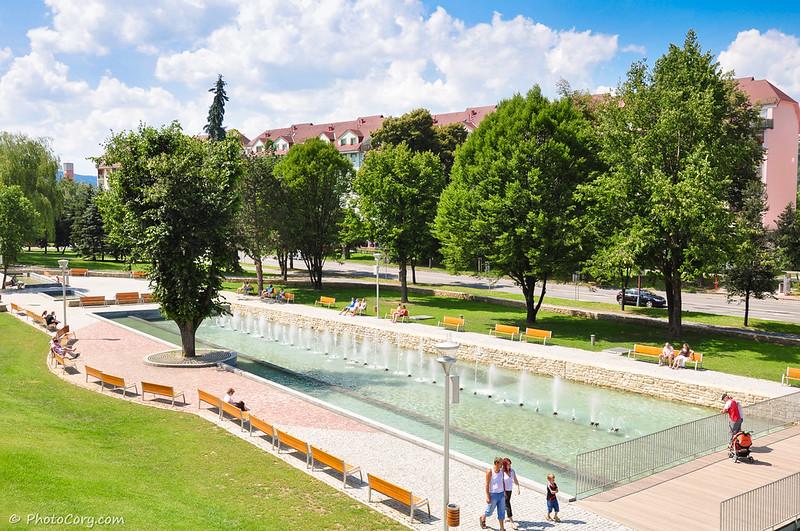 Slovensko, Bardejov, fountain,