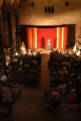 MPA - Kicking Leaves storytelling 2002 - Gawthorpe Hall Barn  - CO1221