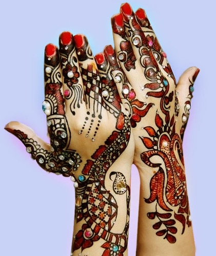Latest Glitter Bridal Mehndi Designs (38)