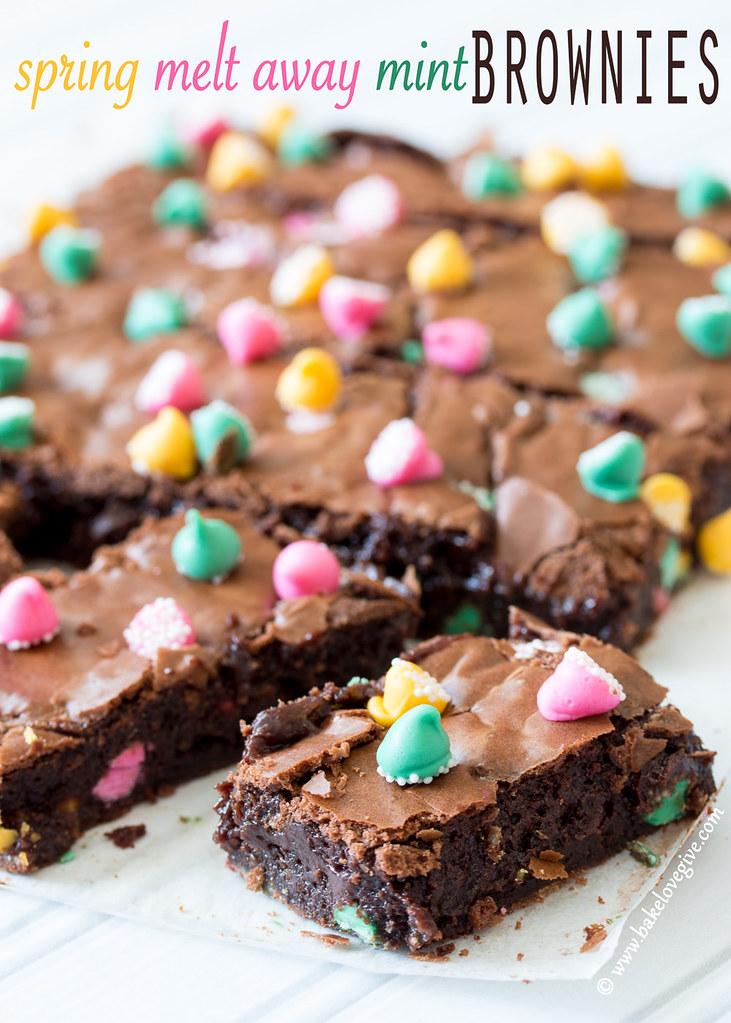 Spring Meltaway Mint Brownies