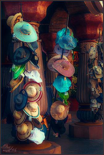 Image of a Hat Display at Universal Studios - Orlando